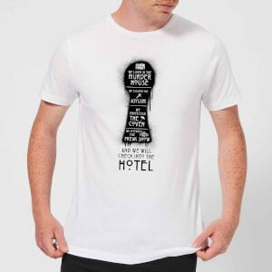 American Horror Story Keyhole Series Men's T-Shirt - White