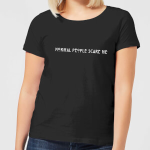 Camiseta American Horror Story Normal People Scare Me - Mujer - Negro