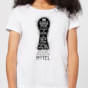 American Horror Story Keyhole Series Women's T-Shirt - White