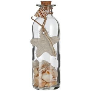 Shells in Bottle Decoration
