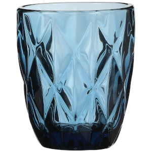 Boulogne Short Glass Tumbler - Blue