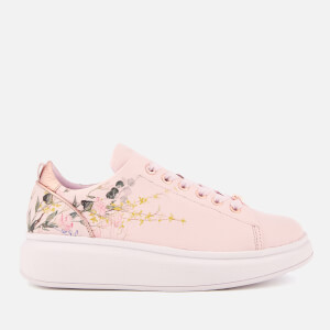 Ted Baker Women's Ailbe 3 Leather Flatform Trainers - Elegant Pink