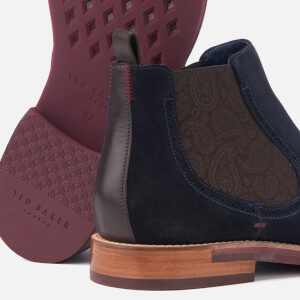 Ted Baker Men's Secaint Suede Chelsea Boots - Dark Blue: Image 4