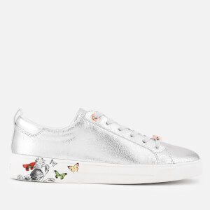 Ted Baker Women's Mispir Leather Low Top Trainers - Silver Narnia