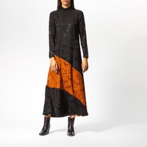 Ganni Women's Ackerly Silk Dress - Black