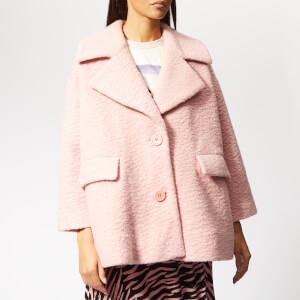 Ganni Women's Fenn Coat - Silver Pink