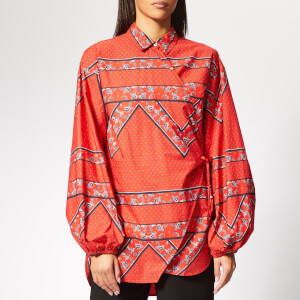 Ganni Women's Faulkner Shirt - Fiery Red