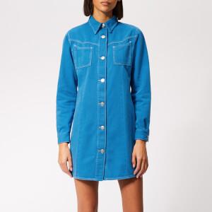 Ganni Women's Kress Soft Denim Dress - Lapis Blue Overdyed