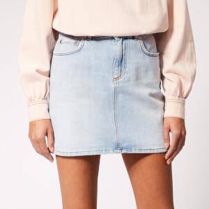 Ganni Women's Sheldon Denim Skirt - Bleached Denim