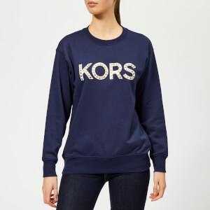 MICHAEL MICHAEL KORS Women's Kors Stud Sweatshirt - True Navy