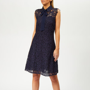 MICHAEL MICHAEL KORS Women's Lace F+F Dress - True Navy