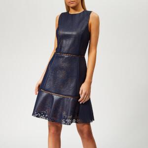 MICHAEL MICHAEL KORS Women's Floral Laser Cut Dress - True Navy