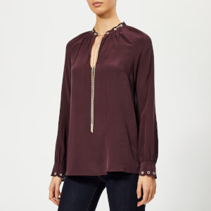 MICHAEL MICHAEL KORS Women's Scallop Chain Top - Cordovan