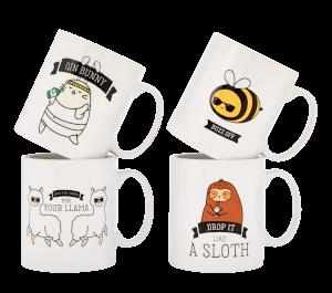 Animal Mugs - 4 Pack