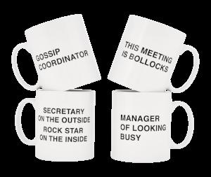 Office Mugs - 4 Pack