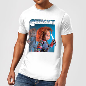 Chucky Nasty 90's Herren T-Shirt - Weiß