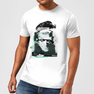 Universal Monsters Frankenstein Collage Men's T-Shirt - White
