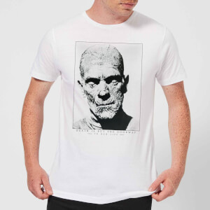 T-Shirt Homme La Momie Portrait - Universal Monsters - Blanc