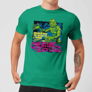 Universal Monsters Creature From The Black Lagoon Retro T-shirt - Groen