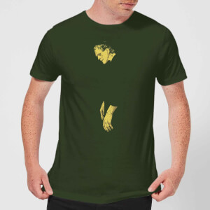 Camiseta Universal Monsters Frankenstein Illustrated - Hombre - Verde oscuro