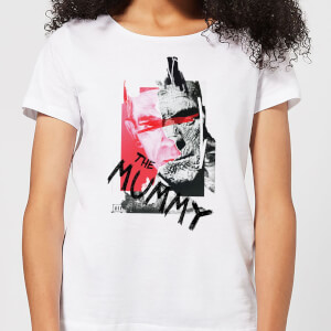 T-Shirt Femme La Momie Collage - Universal Monsters - Blanc