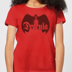Universal Monsters Dracula Crest Dames T-shirt - Rood