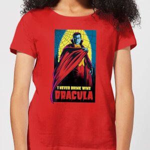 Universal Monsters Dracula Retro Damen T-Shirt - Rot