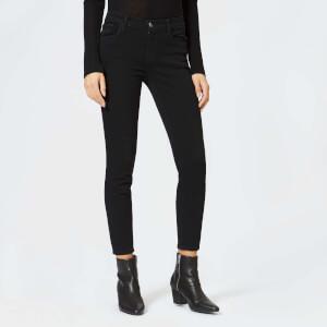 J Brand Women's 835 Mid Rise Crop Skinny Jeans - Crystal Black