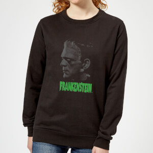Universal Monsters Frankenstein Greyscale Women's Sweatshirt - Black