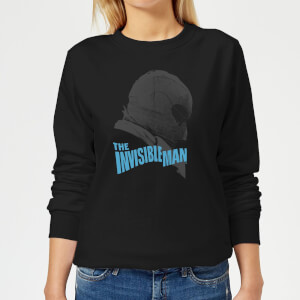 Universal Monsters The Invisible Man Greyscale Women's Sweatshirt - Black