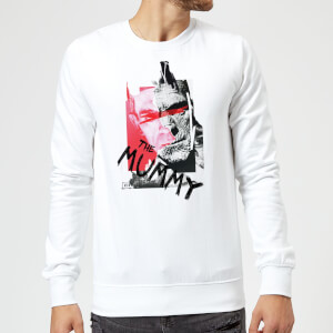 Sweat Homme La Momie Collage - Universal Monsters - Blanc