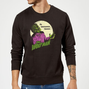 Universal Monsters The Wolfman Retro Trui - Zwart