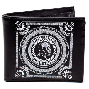 Marvel Black Panther Men's Made in Wakanda Bifold Wallet - Black