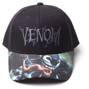 Marvel Venom Men's Logo Adjustable Cap - Black