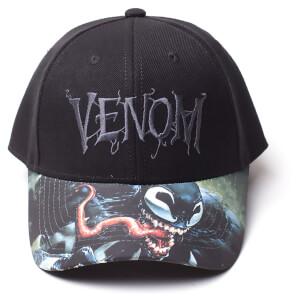 Marvel Venom Men's Logo Adjustable Cap - Black