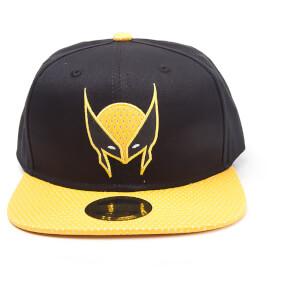 Marvel X-Men Men's Wolverine Mask Snapback Cap - Black