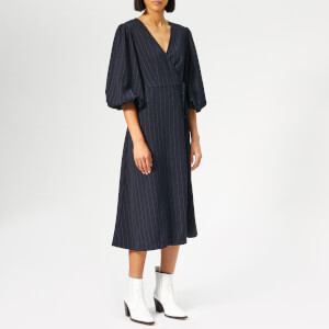 Ganni Women's Clark Dress - Total Eclipse