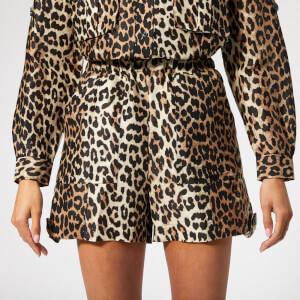 Ganni Women's Cedar Shorts - Leopard