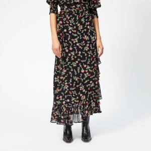 Ganni Women's Elm Georgette Skirt - Black