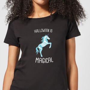 Halloween Unicorn Skeleton Women's T-Shirt - Black