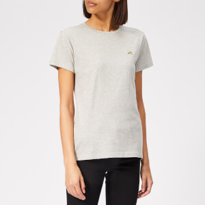 Bella Freud Women's Embroidered Dog T-Shirt - Grey Marl