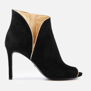 MICHAEL MICHAEL KORS Women's Harper Heeled Shoe Boots - Blaxk