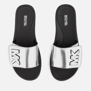 41fd86ea172c MICHAEL MICHAEL KORS Women s MK Slide Sandals - Silver