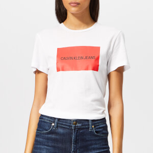 Calvin Klein Jeans Women's Institutional Box Slim Fit T-Shirt - White