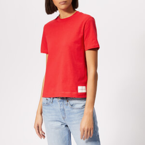 Calvin Klein Jeans Women's Core Straight Fit T-Shirt - Racing Red