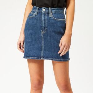 Calvin Klein Jeans Women's HR Mini Skirt - Denim
