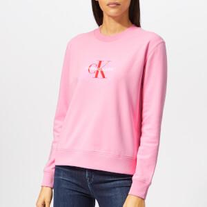 Calvin Klein Jeans Women's Monogram Logo Sweatshirt - Begonia Pink