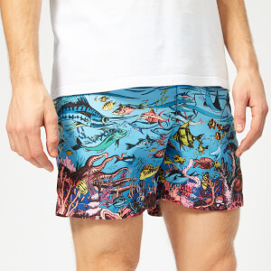 Orlebar Brown Men's Bulldog GW Swim Shorts - Reef Scene