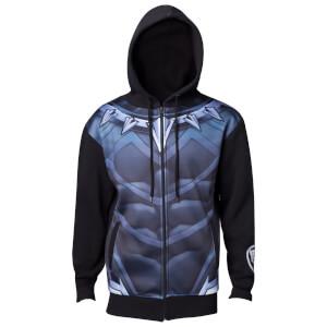Marvel Black Panther Men's Sublimated Suit Hoody - Black