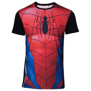 Marvel Spider-Man Men's Sublimation T-Shirt - Red